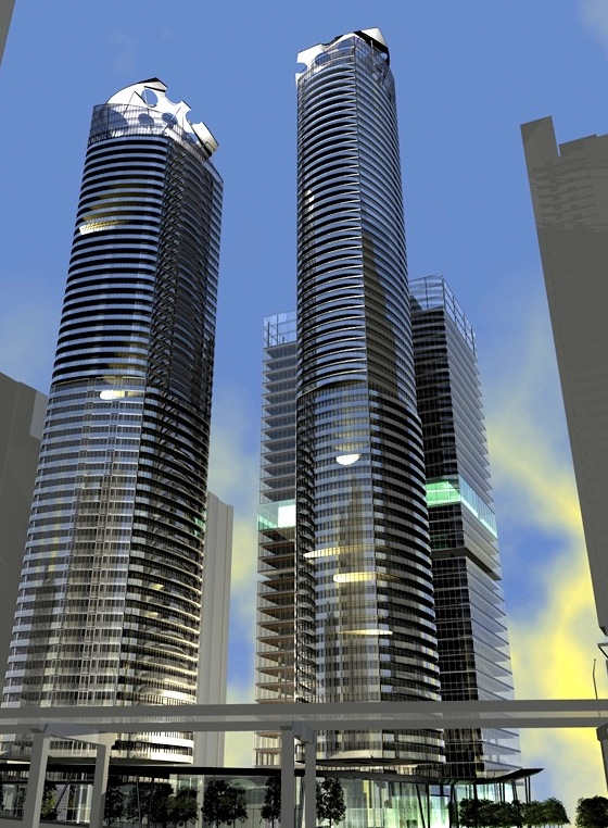 Downtown-Toronto-Homes-ICE-Condos-Night-Exterior-Towers