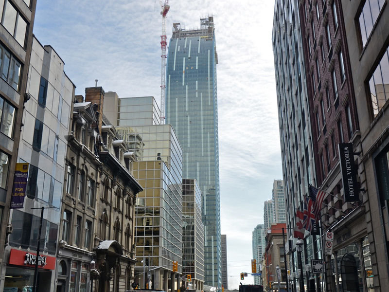 Downtown-Toronto-Homes-L Tower 8-The Esplanade-Building Construction
